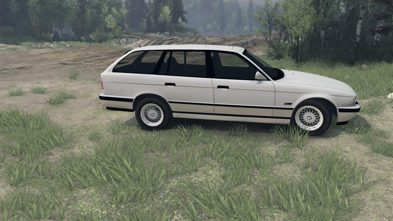 BMW e34 525iX touring v.1.0 для Spintires - Скриншот 2