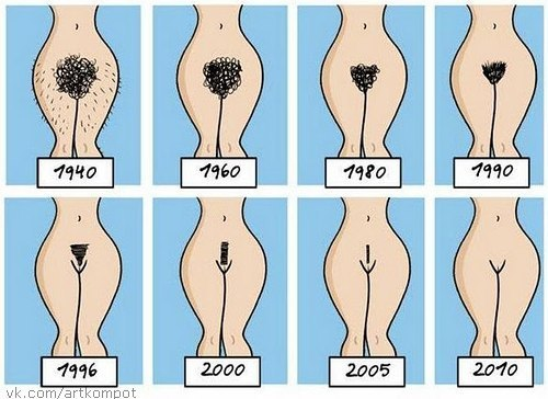 Как побрить киску