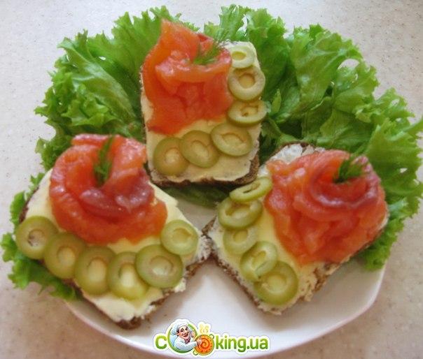 Бутерброды из сёмгиы