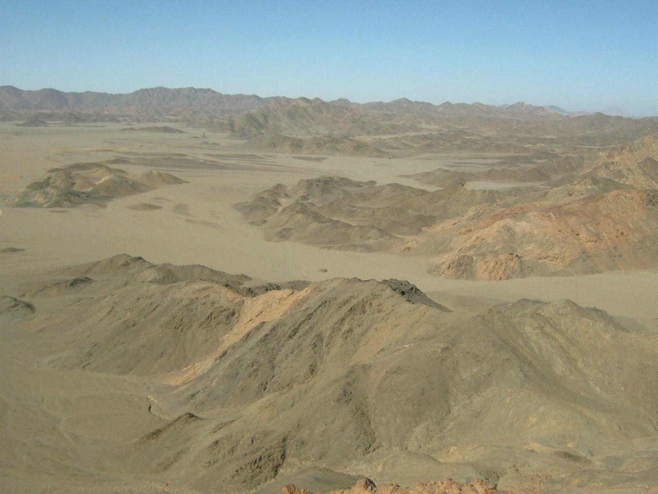 Пейзаж в пустыне около Красного моря