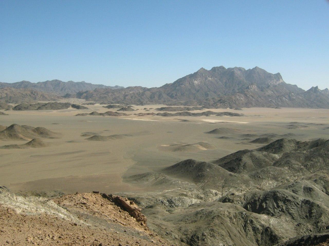пустыня около Красного моря
