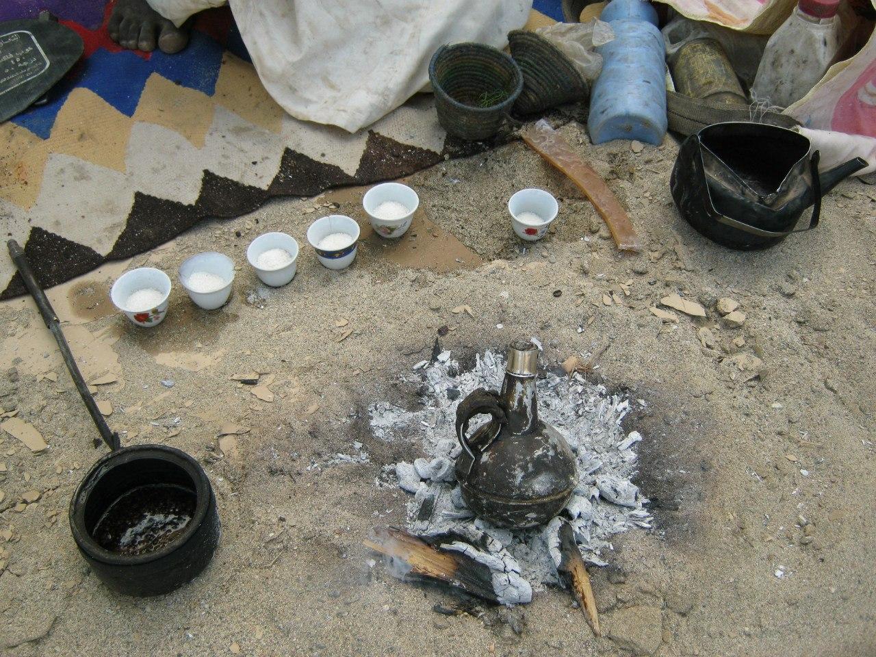 Кофе по-бедуински на углях