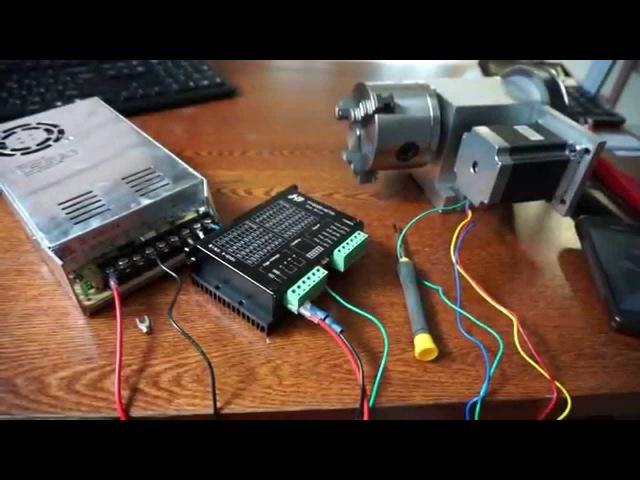 Шаговый Двигатель (ШД)-4 ось.Пробуем подключить питание обмоток к драйверу ЧПУ CNC