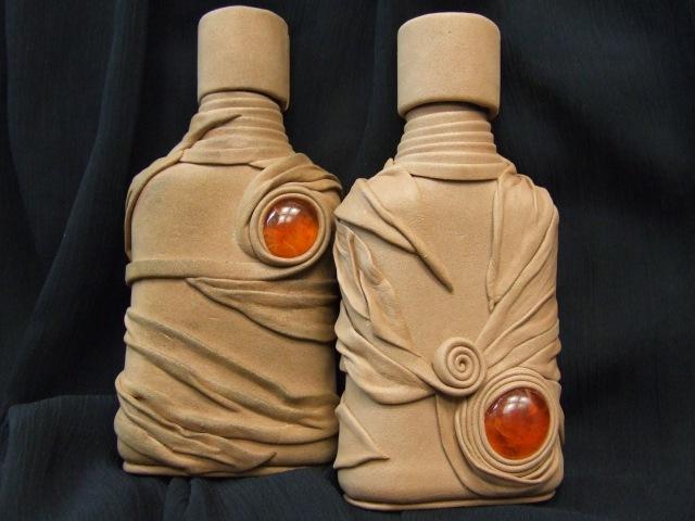Бутылки из кожи от мастеров