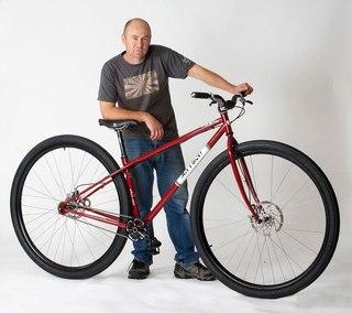 Велосипед на 36-ти дюймовых колёсах