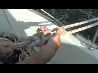 Как завязывать беседочный морской узел или булинь