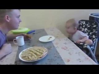 Серьёзный спор с отцом))) Мило сешно