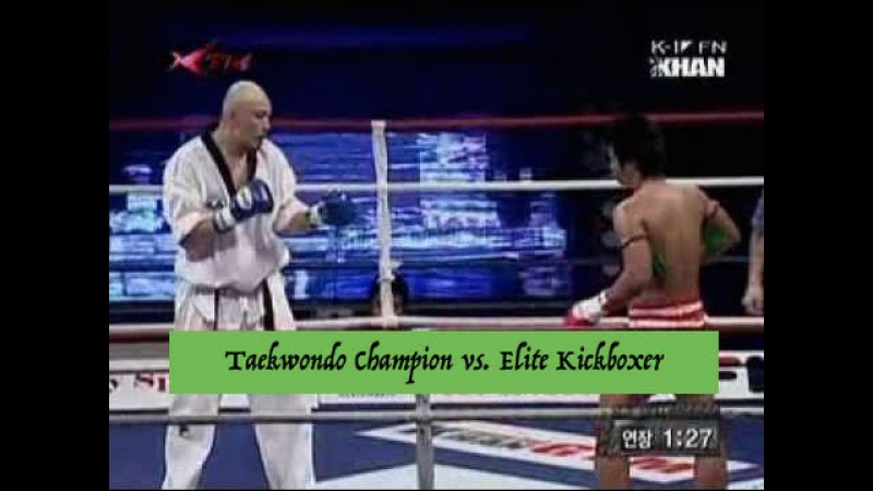 Heavyweight Taekwondo Champion vs. Elite Kickboxer | Lawrence Kenshin