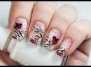 Russian Bullfinch Winter Nail Art Зимний Маникюр Снегири