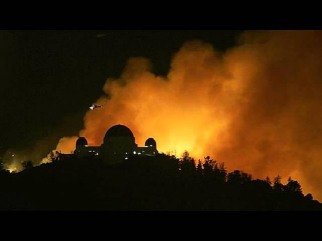 Croatian Amor - LA hills burn at the peak of winter