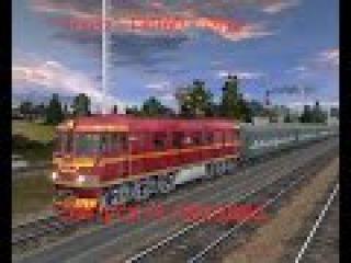 Trainz: ТЭП60-0190 Запуск и поездка.