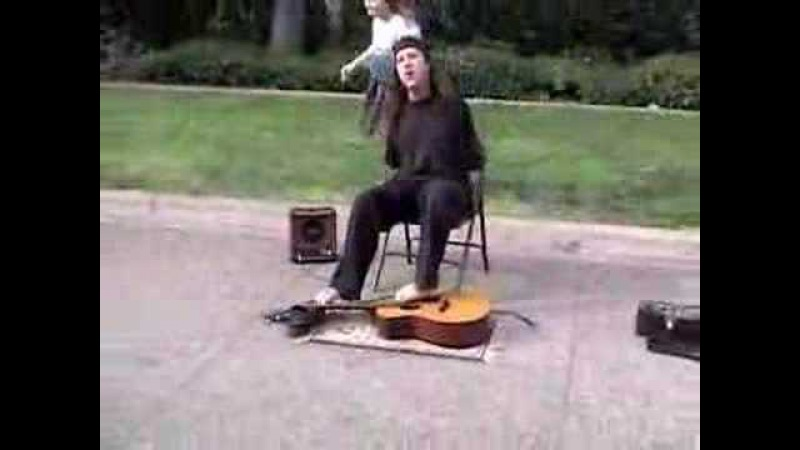 Марк Гоффени (Mark Goffeney) играет на гитаре без рук