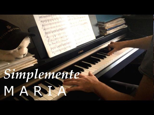 Simplemente Maria/Просто Мария (piano cover)