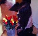 Брюнетки с цветами в домашних условиях 265