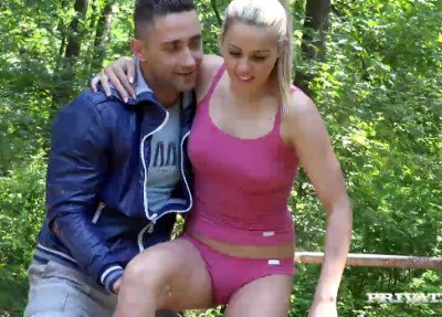 School Girl Christen Courtney Fucks the Sports Teacher In the Woods