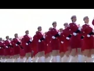 КАТЮША на Китайском языке Парад