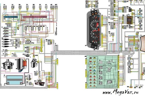 Схема Эл . проводки ваз 2109-