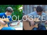 Apologize - OneRepublic (fingerstyle guitar cover by Peter Gergely &amp Eddie van der Meer)
