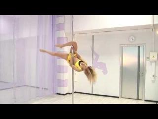 Pole dance с Анной Елисеевой 8 продолжающие (трюк скорпион, комбинация скорпион ...
