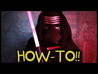 Make Your Own Kylo Ren Lightsaber and Costume! - Homemade How-to!
