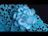 Как связать РОЗОЧКУ брошку.  Вяжем розу крючком.  How to crochet a rose motif.  Crochet...