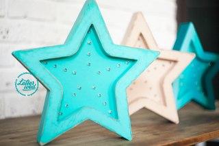 Звезда из фанеры со светодиодами своими руками