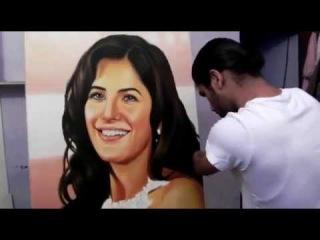 Bollywood actress Katrina Kaif Painting by Dhaval Khatri