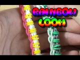 Плетение оригинального браслета из цветных резинок Rainbow Loom