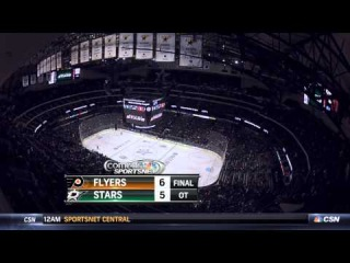 Flyers at Stars - 10-18-14 - Claude Giroux 6-5 OT Goal
