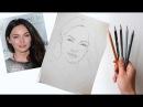 Как нарисовать портрет по фотографии! Часть первая Построение Пропорции лица! Dari_Art