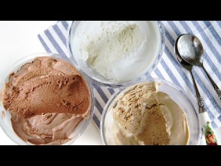 No-Churn Homemade Ice Cream - Vanilla, Chocolate, Coffee 메이커없이 아이스크림 만들기 - 한글자막