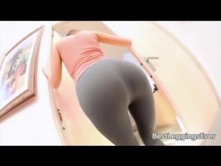 Pantyhose, Nylon, Silk Fetish ∞ Riley Reid hot ass in black leggins spandex, сексуальная попка в лосинах в леггинсах в обтяжку