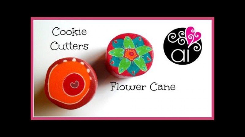 Cookie Cutters Flower Cane | Polymer Clay Tutorial | Principianti | Easy Way to do Millefiori Cane