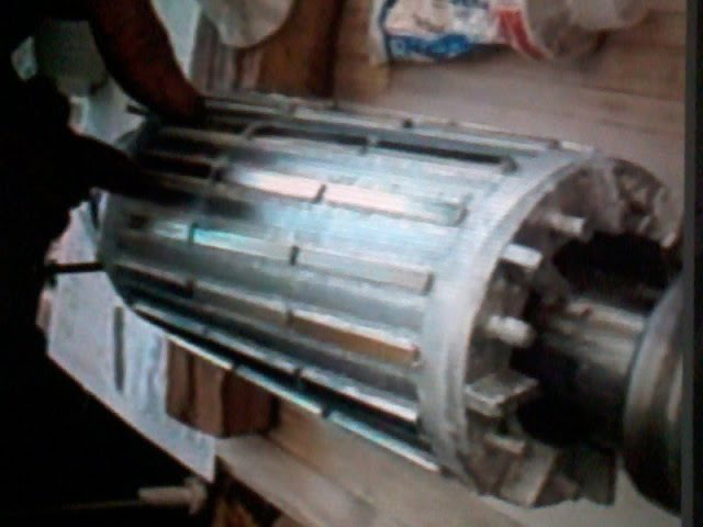 Поклейка магнитов на ротор асинхронника 5кват