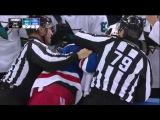 Fight - Andrew Desjardins Vs Tanner Glass. October 19th 2014 (HD)