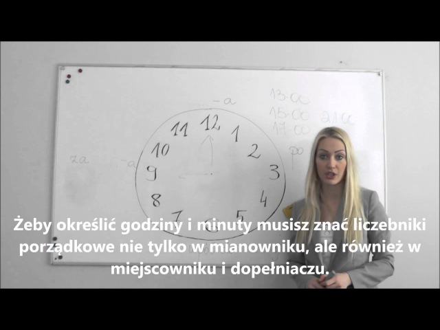 Polish for foreigners - godziny/styl nieoficjalny