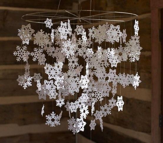 Идея для зимнего декора! Кружевное чудо из снежинок своими руками