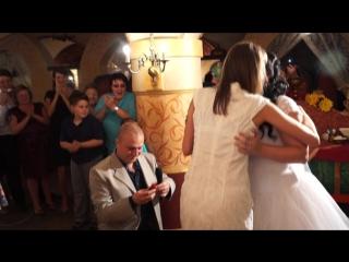 Сюрприз на Свадьбе - предложение руки и сердца во время бросания букета невесты!
