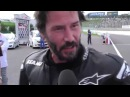 Keanu Reeves Interview Extract At Suzuka 8 Hours 2015 (на русском!)