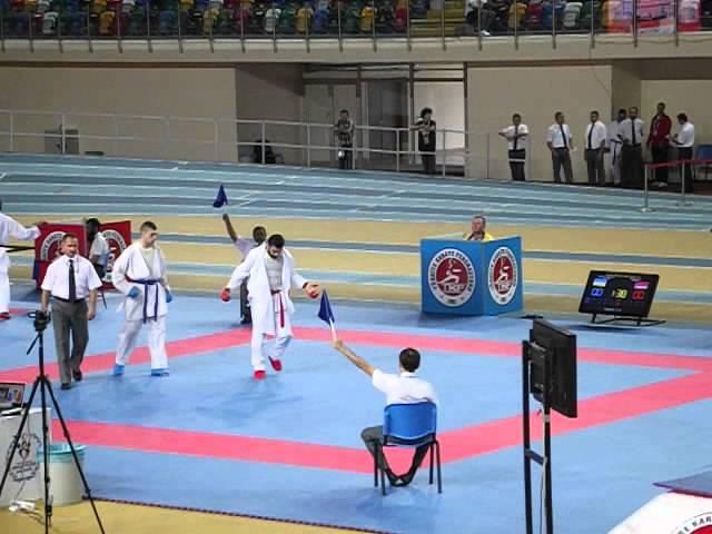 WKF karate Istanbul open 2014 Stanislav Horuna round 1