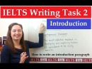 IELTS Writing Task 2: How to write an introduction