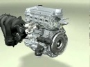 3D работа двигателя внутреннего сгорания flv