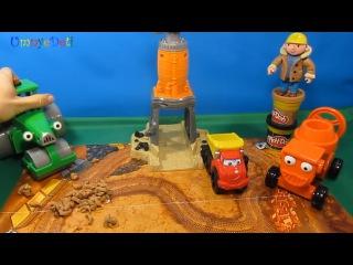 Play Doh на русском Гравийный завод 49413 с машинкой Chuck Набор пластилина Обзор и как лепить