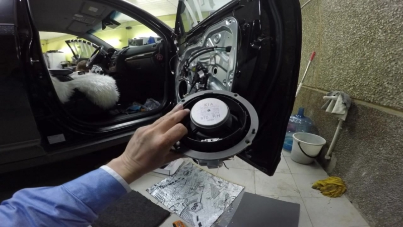 KIA Sorento 4 замена штатной акустики