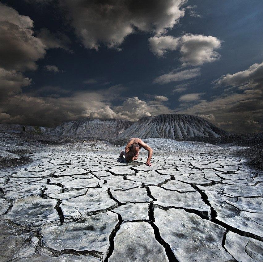 Человек в Донецкой пустыне