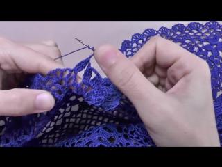 Вязание ажурной КАЙМЫ крючком. Обработка низа юбки