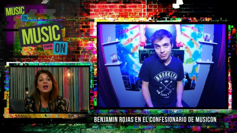 Benjamin Rojas al Confesionario MusicON en FWTV