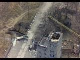 Появилось видео обстрела позиций боевиков, снятое c воздуха