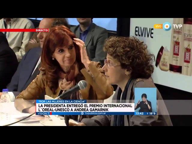 Andrea Gamarnik galardonada con el Premio internacional L'Oréal UNESCO