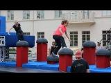 Anna Faris and Allison Janney -- Ninja Warriors!